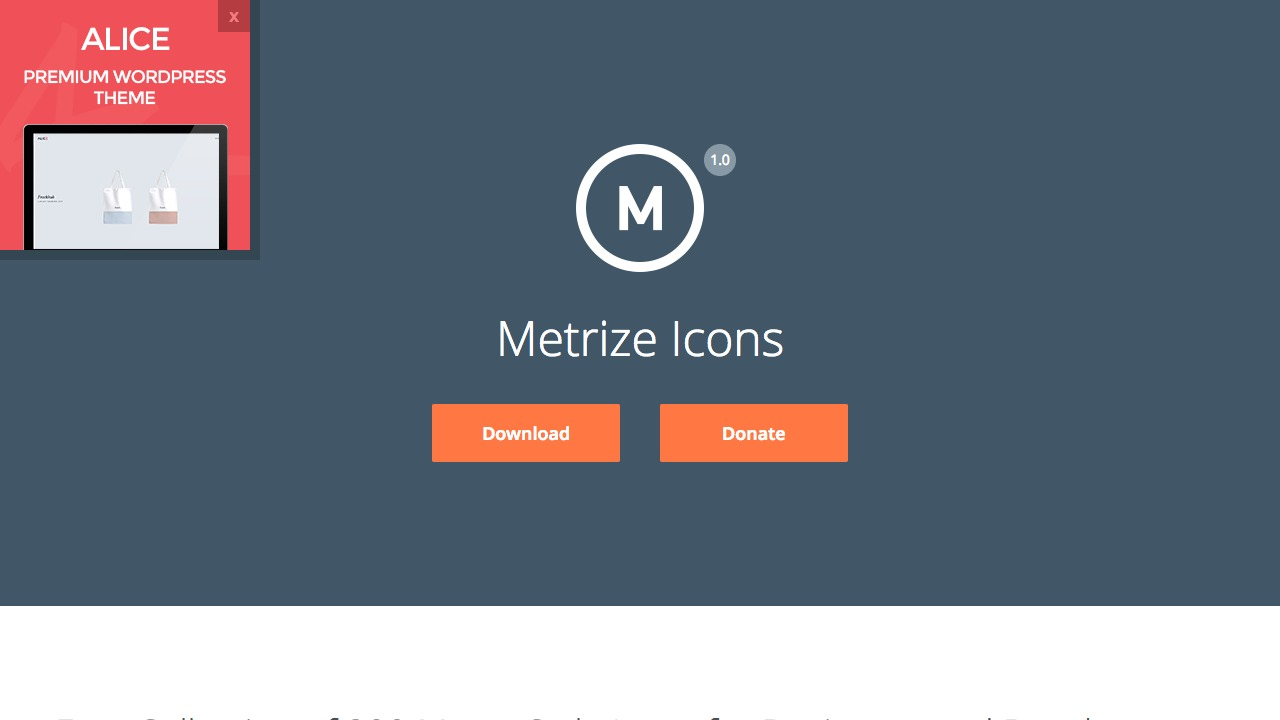 Metrize Iconsさんのwebサイトスクリーンショット@complesso.jp