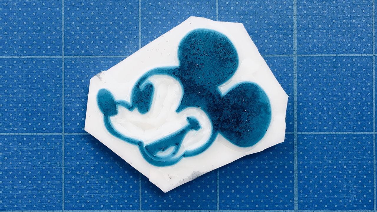 超簡単!!消しゴムスタンプ(ハンコ)でミッキーマウスを作る!@complesso.jp