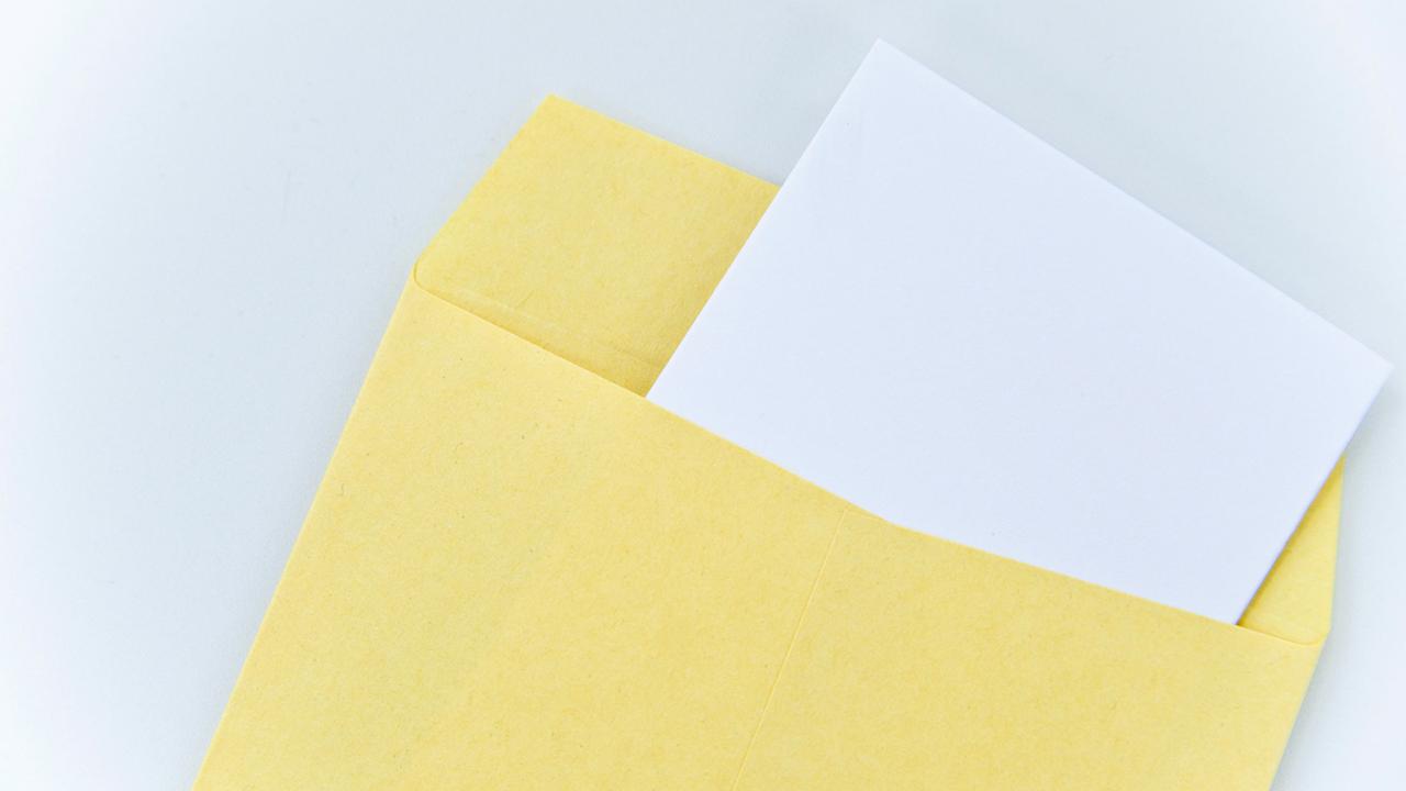 封筒の宛名書きと差出人の書き方イメージ