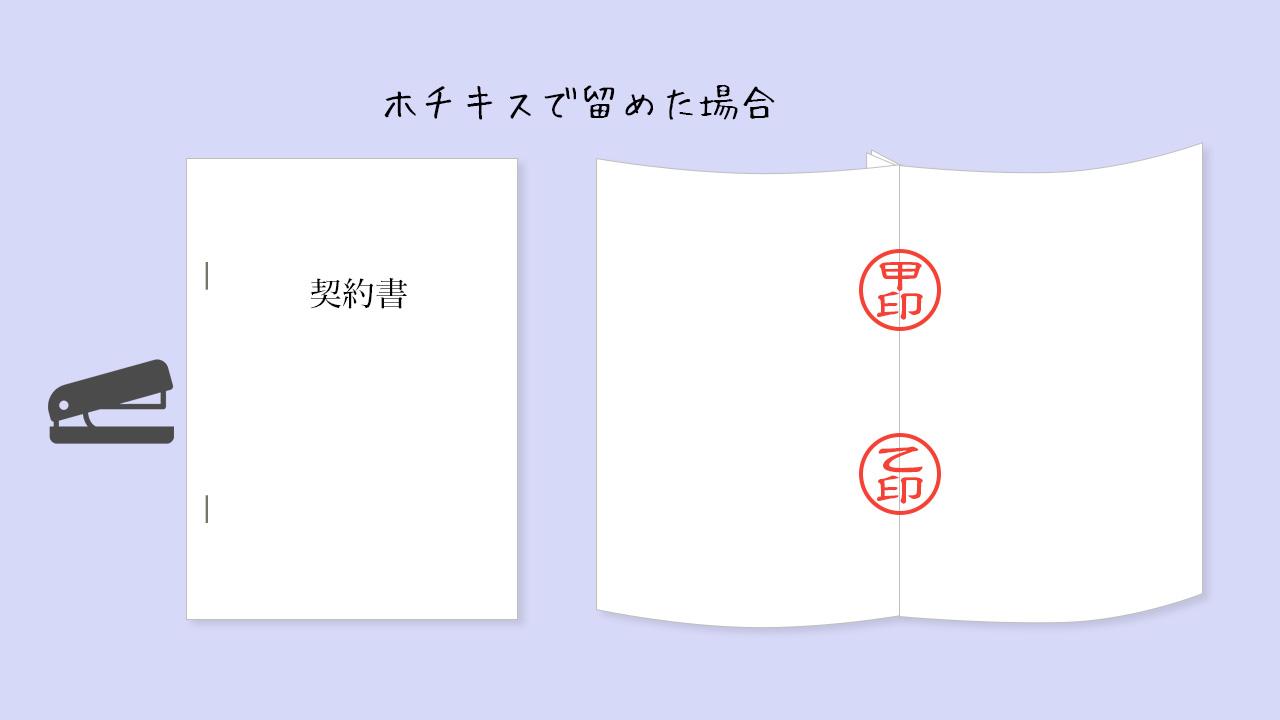 契印(袋とじ)のしかたイメージ@complesso.jp