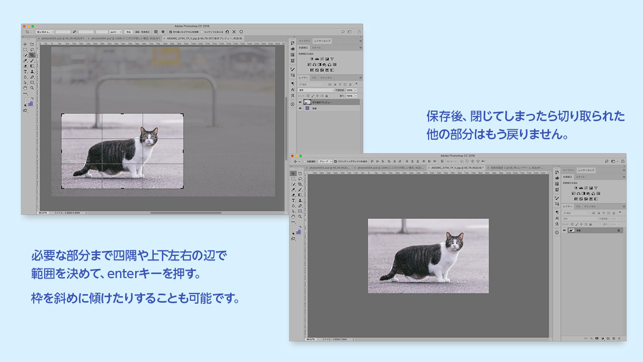 切り抜きツールPhotoshopの切り抜き方法まとめ@complesso.jp