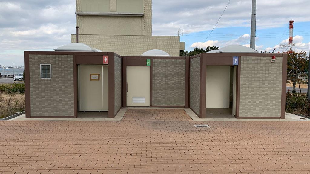 碧南緑地公園の男女別トイレ