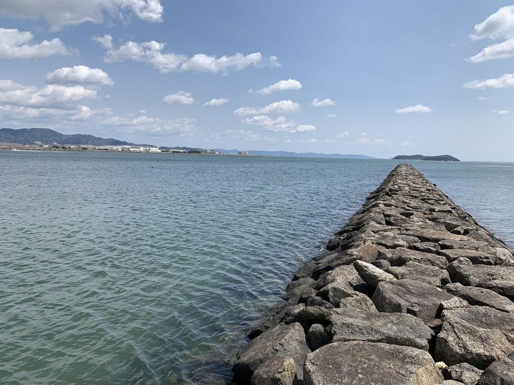 天神川河口突堤