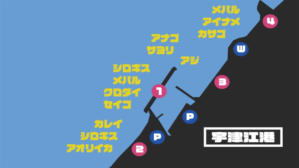 宇津江港の釣り場情報【Fishing complesso 愛知県の釣り場情報】