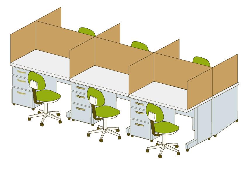 オフィスのコロナ対策に段ボールで間仕切りはいかが?|新しい生活様式を考える