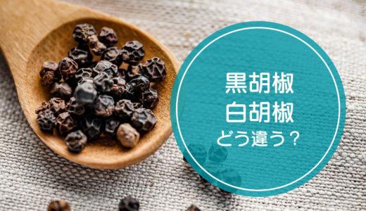 「黒胡椒」と「白胡椒」の違いをご存知ですか!?