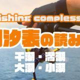 海釣りで重要な干潮・満潮って??|潮汐表の読み方
