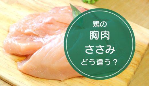 鶏の「胸肉」と「ささみ」の違いをご存知ですか!?
