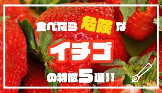食べたら危険なイチゴの特徴5選!!